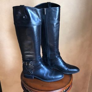 Vince Camino black leather riding boots size 8